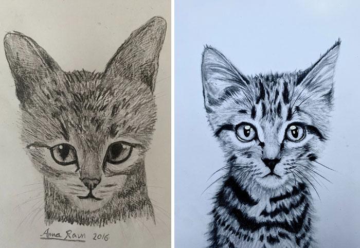 Age 12 vs. 16 - My Drawing Progress