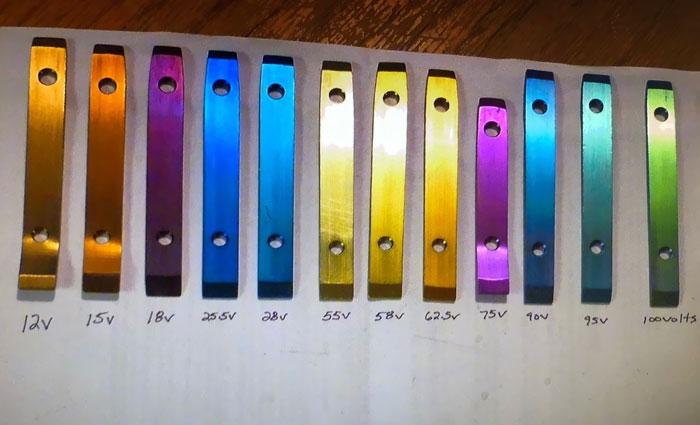 How Titanium Gets Color With Different Voltages
