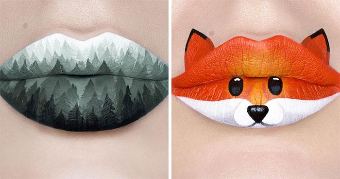 La maquilladora Andrea Reed convierte sus labios en obras de arte y estos son los 40 diseños más deslumbrantes