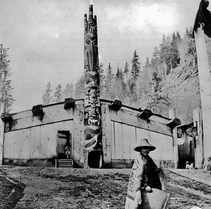 Edificios perdidos de pueblos del noroeste del Pacífico, a finales del siglo XIX