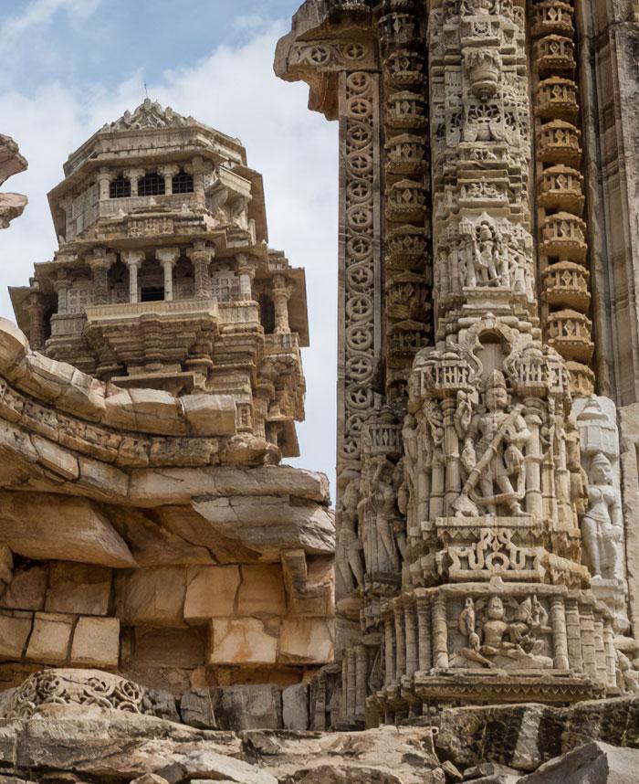 Ruinas del fuerte de Chittorgarh, Rajastán, India