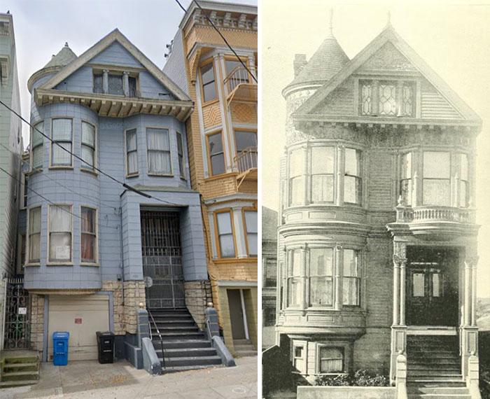 Tomé una edición de 1898 del California Architect and Building News y encontré todas las casas de San Francisco que pude en Google Maps