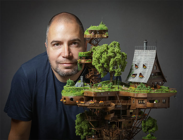 This Photographer Created A Mini Village And It Took Him 2 Years To Finish