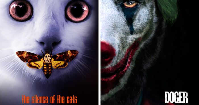This Artist Recreates Famous Movie Posters With Cats And Dogs (19 Pics)