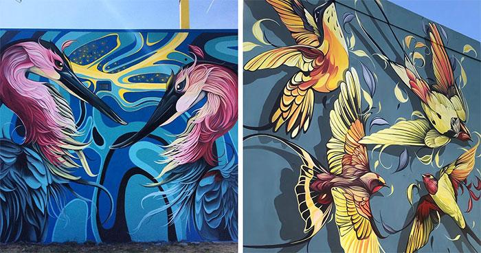 Muralist Brings Buildings To Life By Covering Them In Huge Wildlife Art (30 Pics)