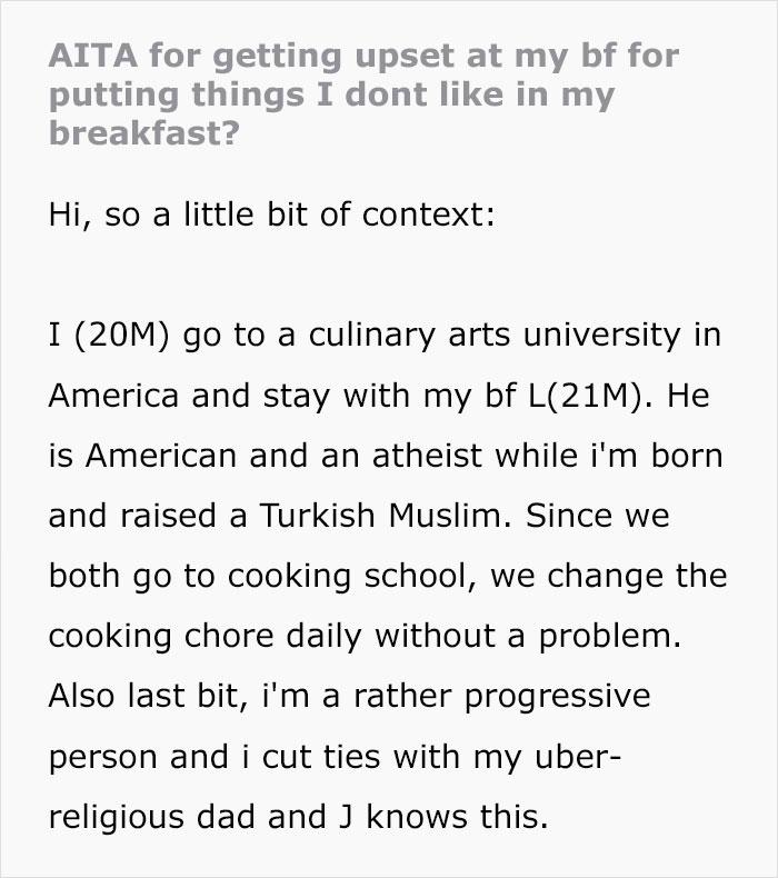 Muslim Guy Considers Leaving His Boyfriend After He Secretly Fed Him Pork As A Joke