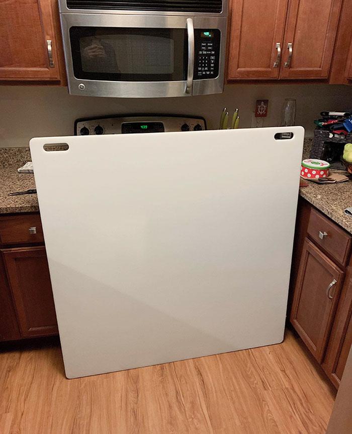 My Friend's GF's Dad Sent Them A 4xl Cutting Board For Their Housewarming By Mistake