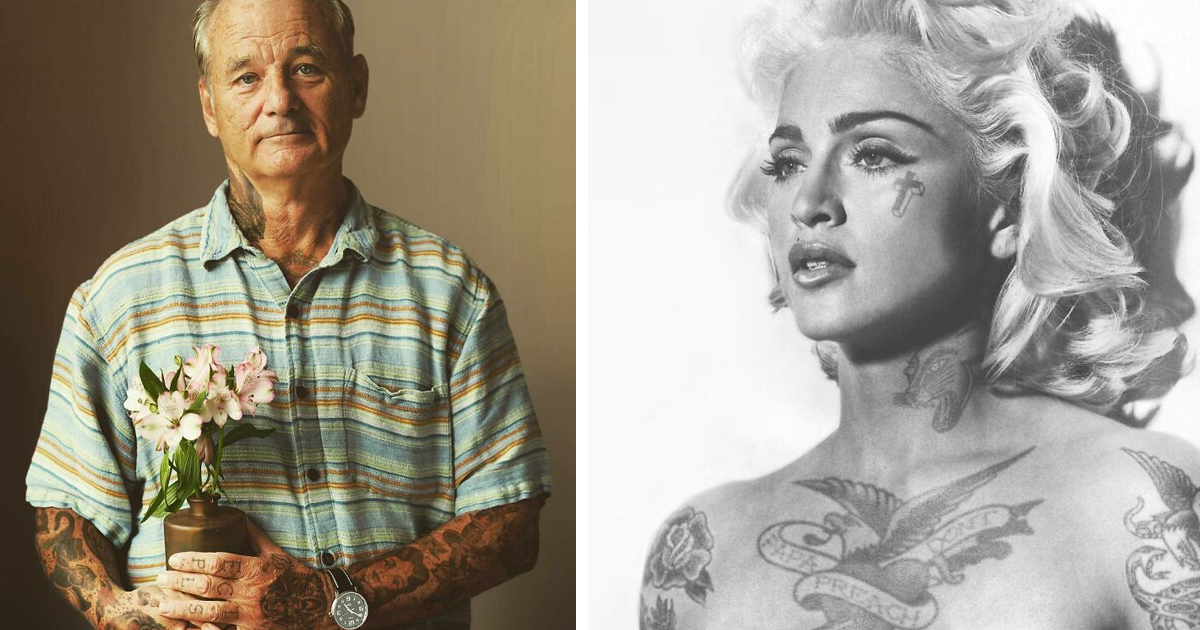 """This Artist """"Tattoos"""" Celebrities In Photoshop, And Here Are 61 Of His Best Works"""