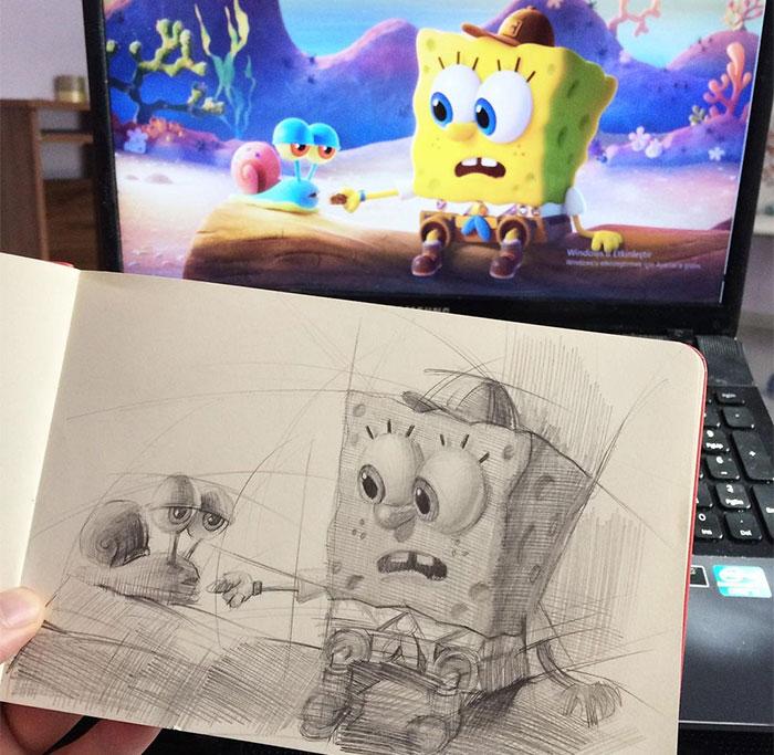 65 Pencil Drawings Of Our Favorite Pop Culture Characters By Samet Türkan
