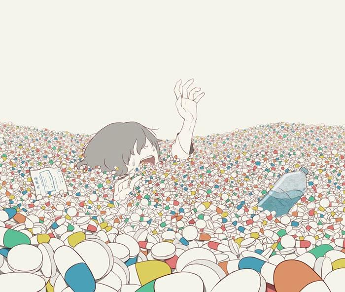 40 Elocuentes ilustraciones de un artista japonés que te harán pensar (nuevas imágenes)