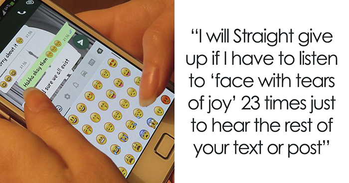 This User Asks Not To Put Too Many Emojis When Texting To A Visually Impaired Person, Explains Why