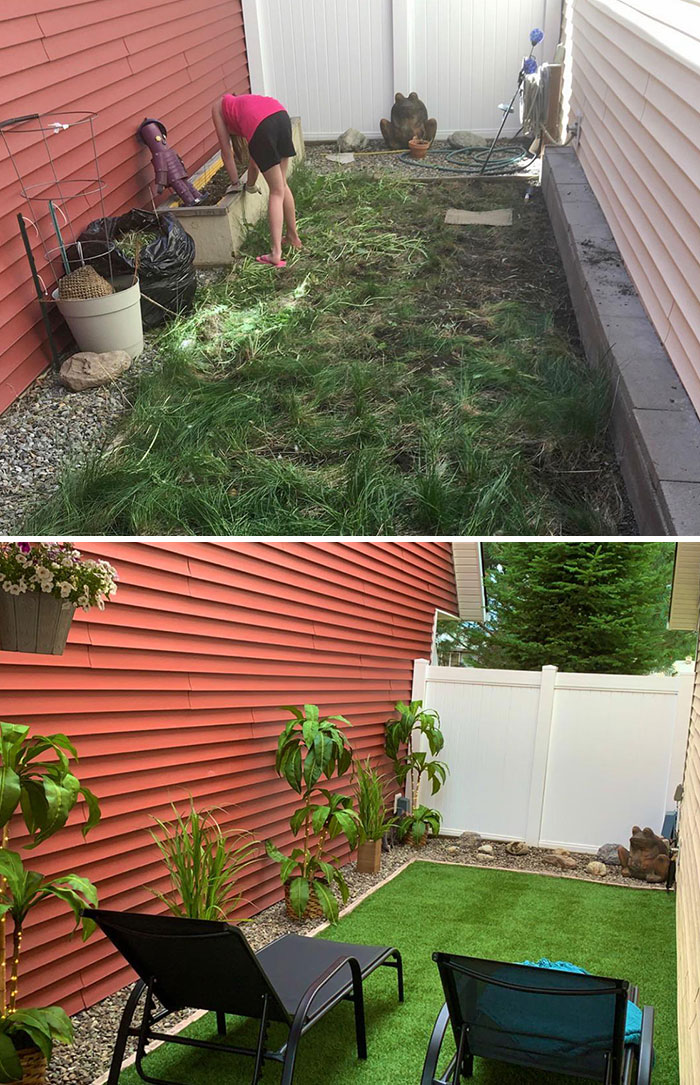 DIY Backyard Overhaul. 1 Girl, 2 Days, $750, And A Whole Ton Of Ambition