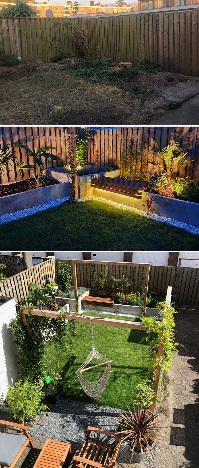 Before And After Lockdown Backyard