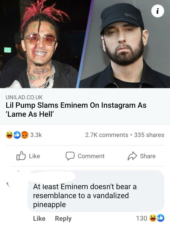 On A Facebook Post About Lil Pump And Eminem