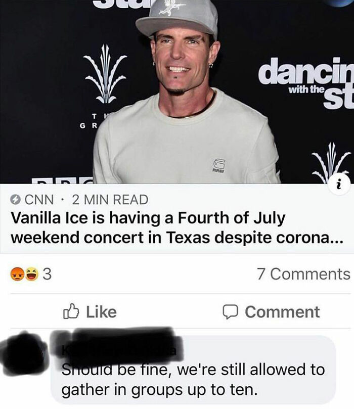 He Is Going To Need Some Ice, Ice Baby For That Burn