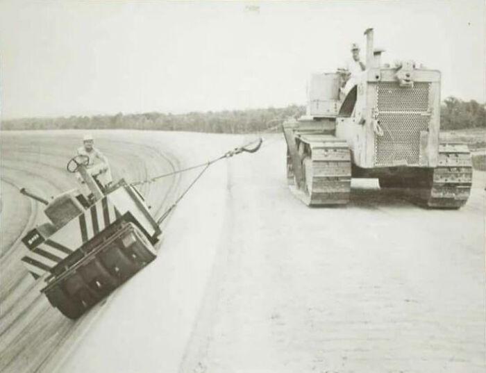 The Asphalt Being Rolled At The Telladaga Speedway. 1969