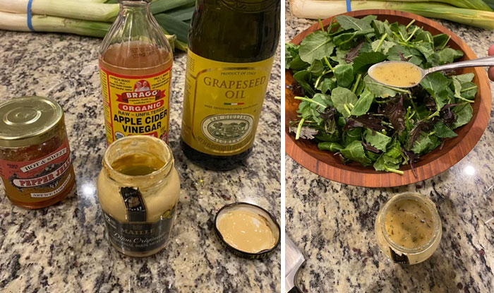 When You Finish A Jar Of Mustard, Don't Throw It Out - Make Delicious Salad Dressing With Only 3 Ingredients. Put Ingredients Into Jar, Shake Vigorously, Done
