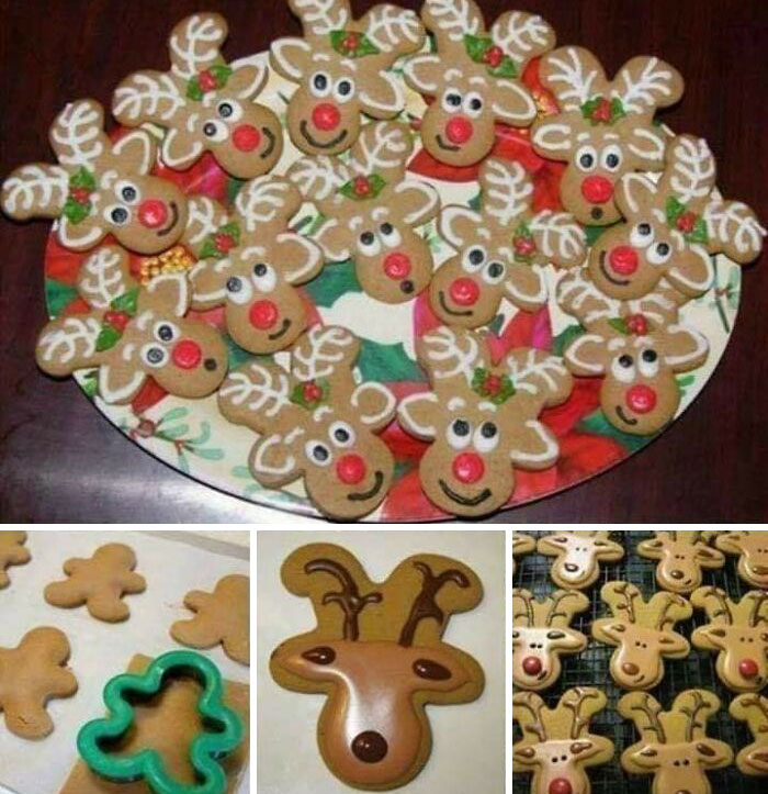If You Have A Gingerbread Man Cookie Cutter, You Also Have Reindeer Cookies Cutter. Awesome Isn't It. See Image Below To Understand How