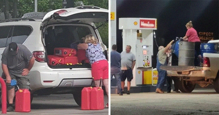 30 Pictures That Show Americans Freaking Out Over The 'Gas Shortage' They Pretty Much Created By Themselves