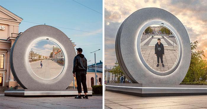Lituania y Polonia han construido un «portal» que conecta dos de sus ciudades y a la gente le encanta