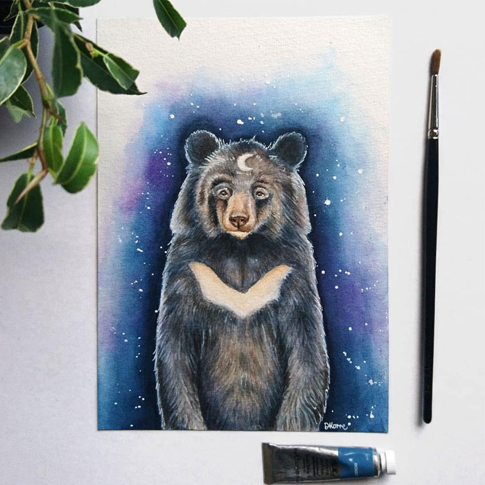 I Create Animal-Themed Paintings Using Watercolor, Ink, And Acrylic Paint, Here Are My best 70 Works