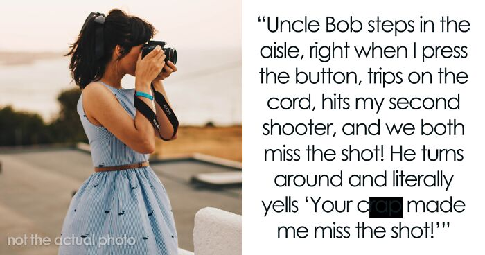Wedding Photographer Shares Working Horror Story When A Guest Won't Let Her Do Her Job