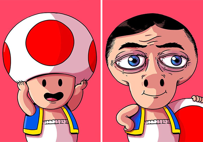 Artist Shows The Disturbing Side Of Popular Characters (45 New Pics)