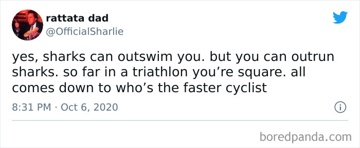 Aight Who Wants To Do A Triathlon With A Shark