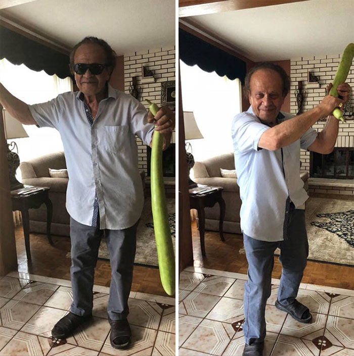 This Grandfather With His Zucchini