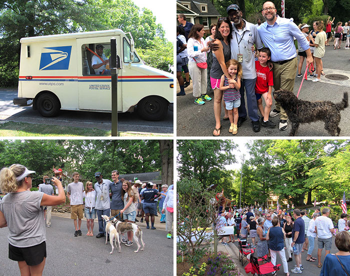 This Mailman Decided To Retire, The Whole Neighborhood Throw Him A Goodbye Party And Raise Money For His Dream Vacation