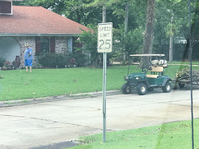 After Bad Storms, This Retired Old Man Goes Around Our Neighborhood And Cleans The Debris Out Of Yards And Catch Basins