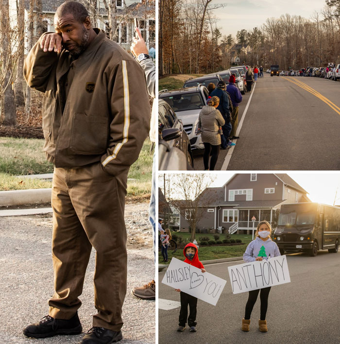 A UPS Driver Went Above-And-Beyond This Year, Delivering Nearly 200 Packages A Day Through Lockdowns. Hundreds Of Neighbors Came Out To Give Him A Hero's Salute