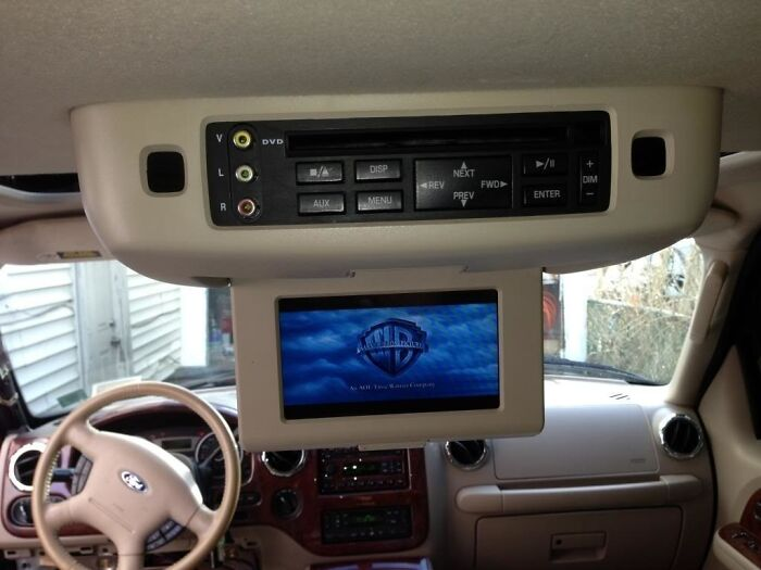 A DVD Or VHS Player In A Car