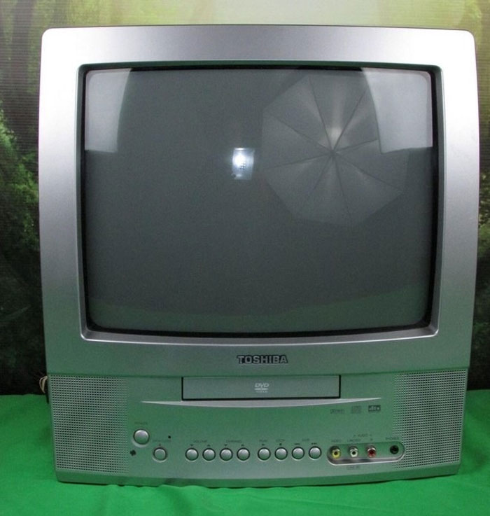 A TV With A DVD Player In It