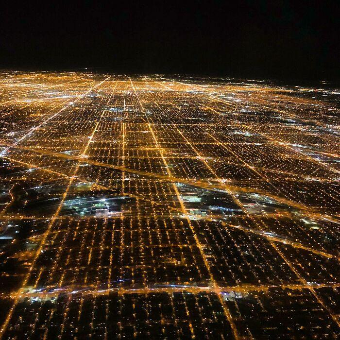 ¡Me pareció genial que la primera vez que volé a Chicago pareciera que estaba volando dentro de un ordenador!