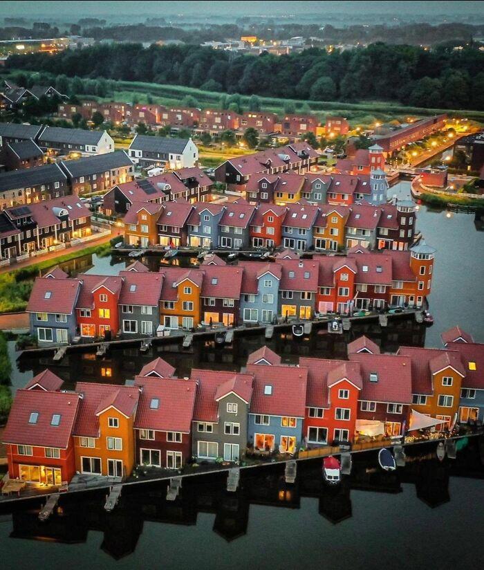 Mi ciudad: Groningen, en el norte de los Países Bajos. Esta es realmente mi vista
