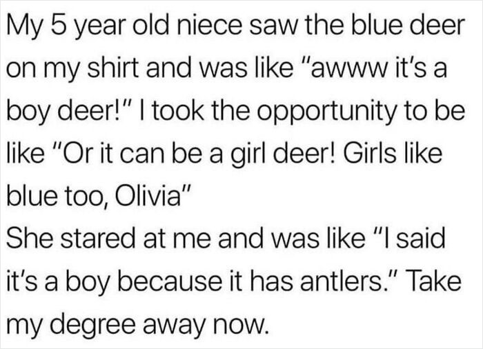 How Could She Not Know How Antlers Work?