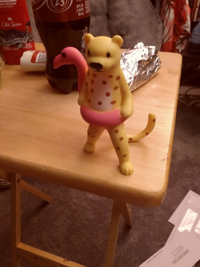 This Cheetah I Bought Last Weekend For No Other Reason Besides Seeing It Alone In The Target Checkout (With A Tag) And Deciding It Was Coming With Me