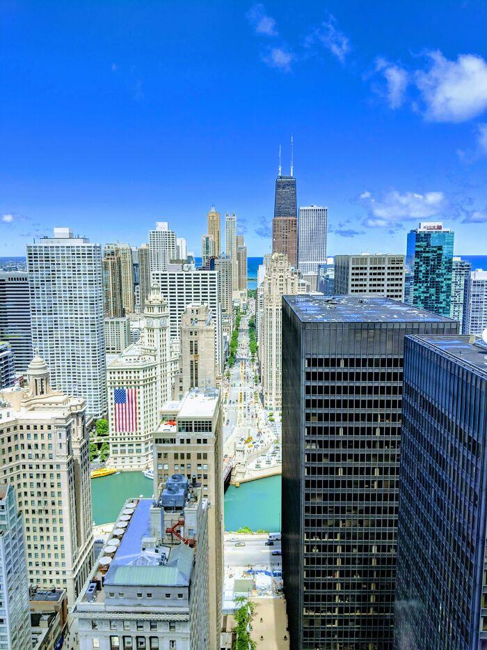 La vista desde mi escritorio en Chicago, Ilinois, EE.UU. no es una vista que se vea a menudo y realmente la voy a echar de menos