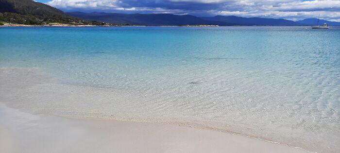 Beautiful Blue Water At Bicheno, Australia