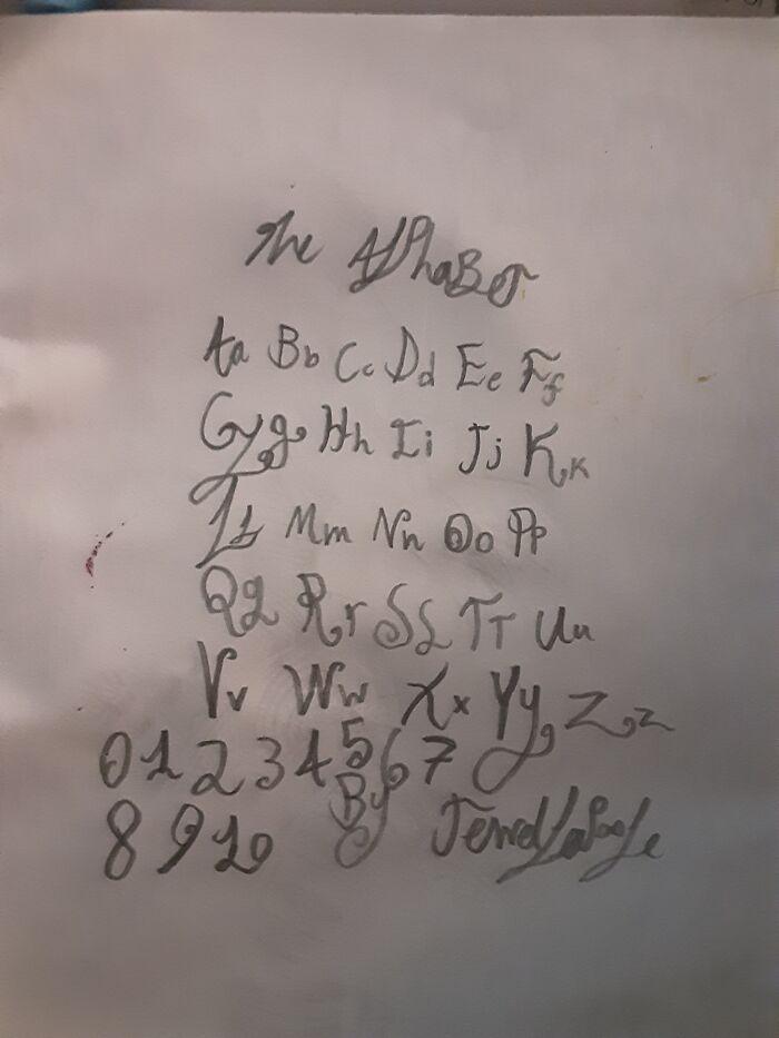 My Handwriting On Paper
