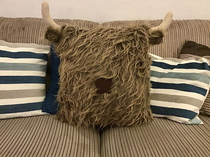 Obviously Everyone Needs A Hellie Cow Cushion