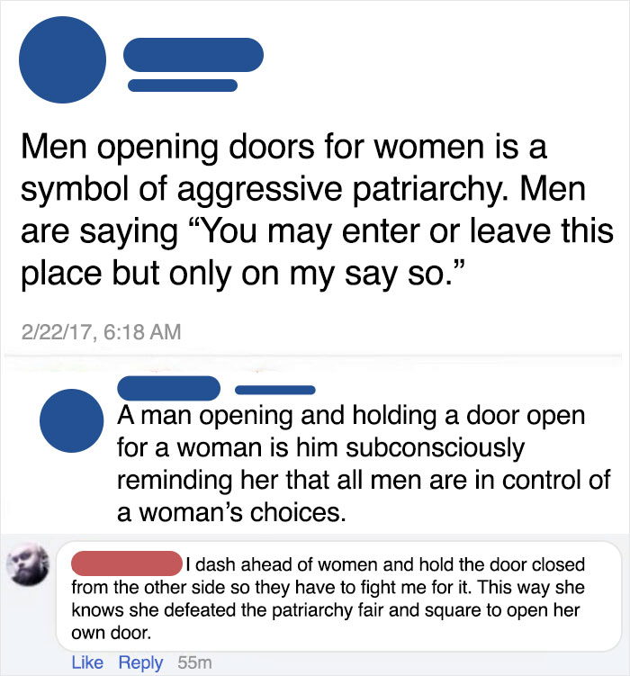 The Woman Is The Cringe One Here, In Case Anyone Is Confused