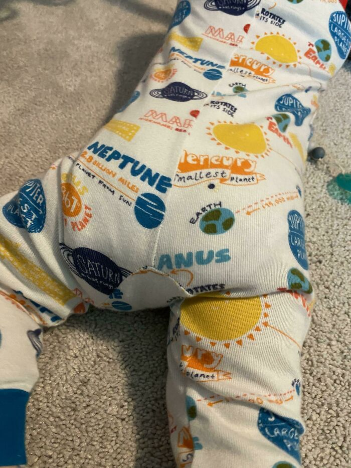 Where Is Uranus? My 9-Month-Old's PJs Leave No Doubt