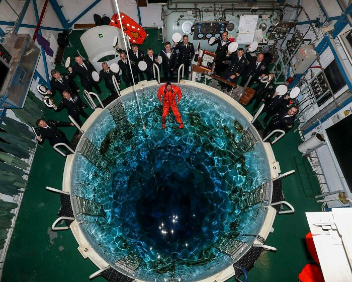 What A Submarine Escape Training Tower Looks Like