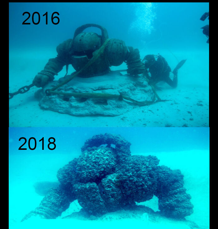 In 2016 Riot Games Commissioned An Artificial Reef Of Their Character Nautilus And Placed It In The Ocean Of Brisbane, Australia. He Now Looks Like This
