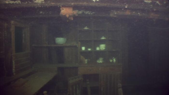 Interior Of Shipwreck In Lake Superior