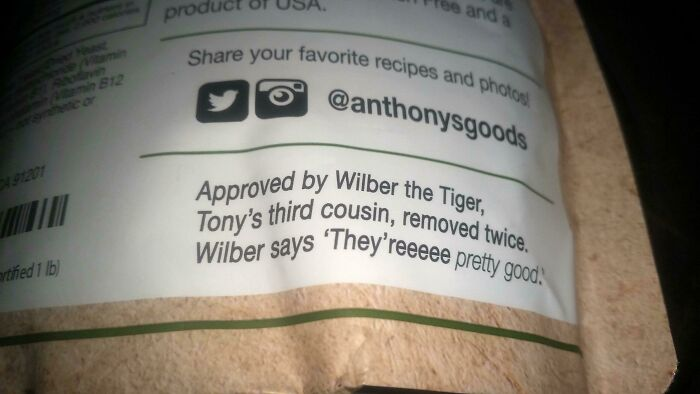 On The Back Of A Bag Of Nutritional Yeast Flakes