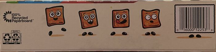 The Upc On Cinnamon Toast Crunch Is Trying To Blend In With The Others Squares
