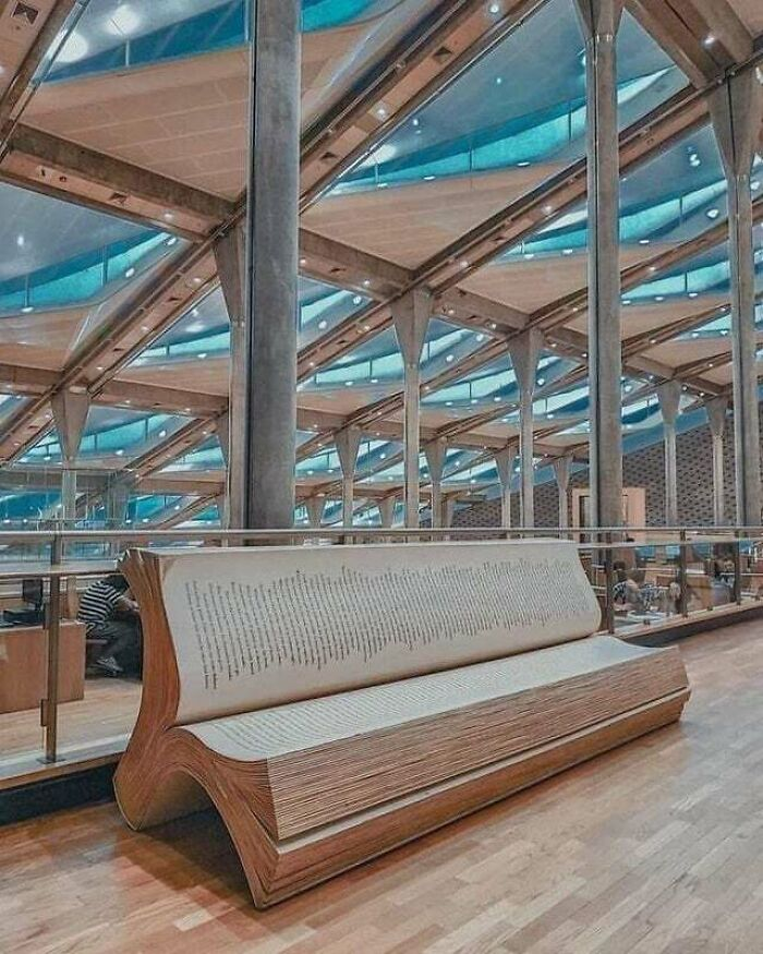 A Bench In The Library Of Alexandria